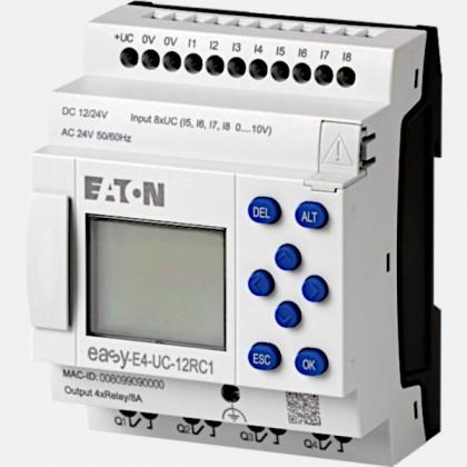 Sterownik 12/24VAC/DC 8 wejść cyfrowych (4 analogowe) 4 wyjścia przekaźnikowe EASY-E4-UC-12RC1 Eaton