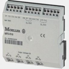 Moduł 12 wejść binarnych i 4 wyjść przekaźnikowych Eaton MFD-AC-R16