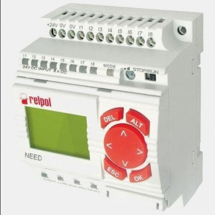 Sterownik 8 wejść i 4 wyjść przekaźnikowych NEED-12DC-22-8-4R-D Relpol
