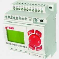 Sterownik PLC 8 wejść i 4 wyjść tranzystorowych NEED-24DC-22-08-4T-D Relpol