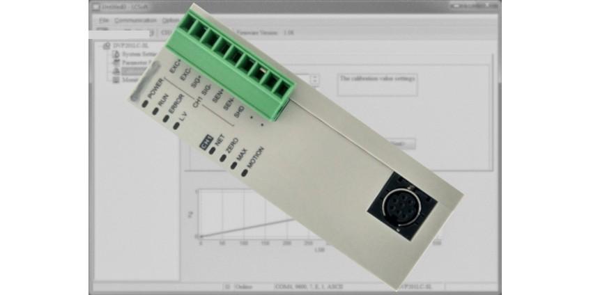 Konfiguracja modułu wagowego DVP201LC Delta Electronics